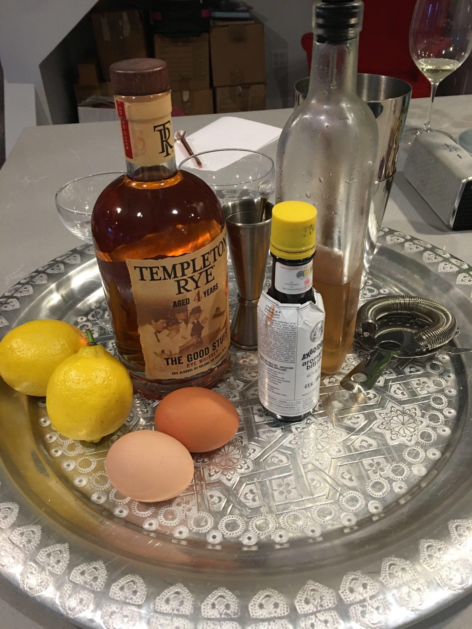 Cocktail set-up