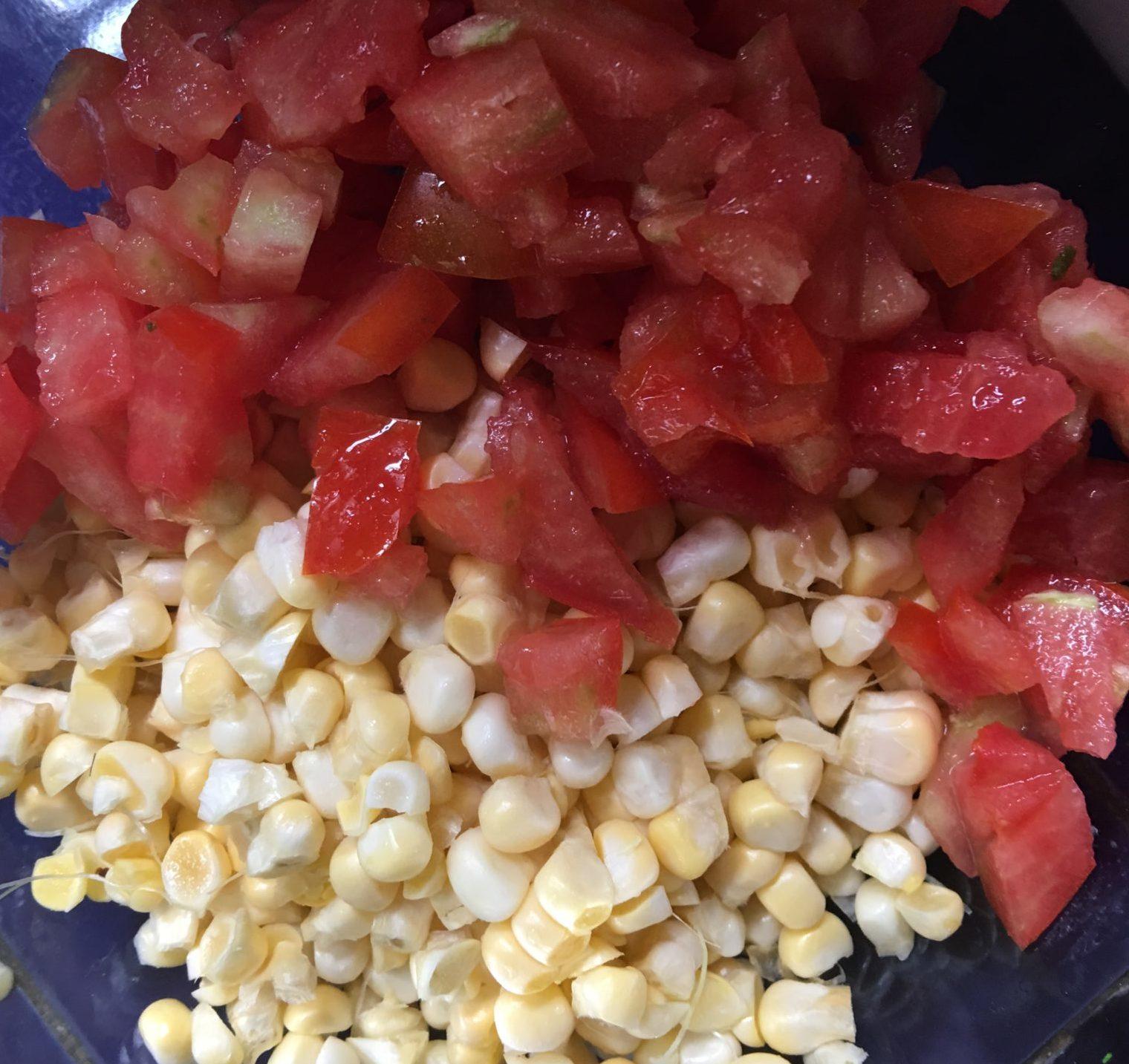 Tomato and corn