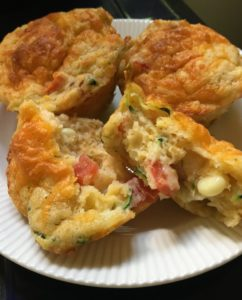 CORN, TOMATO AND ZUCCHINI MUFFINS, DON'T FORGET THE CHEESE!