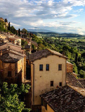 Italian hillside town