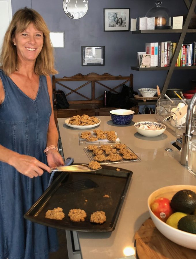 Susan Murray and her cookies