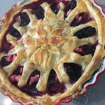 Pear-Blackberry pie with decorative crust