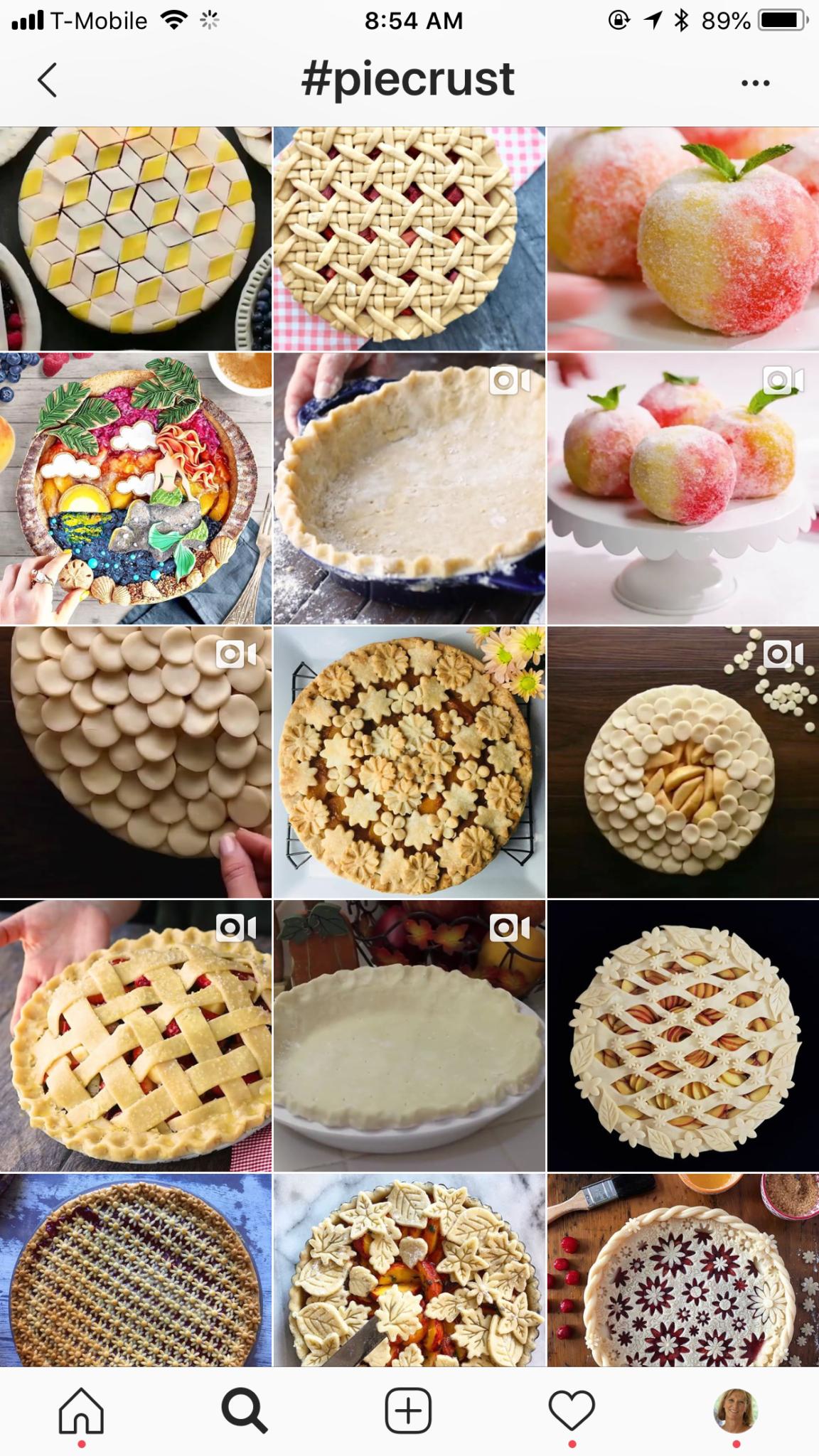 Instagram pictures of piecrusts
