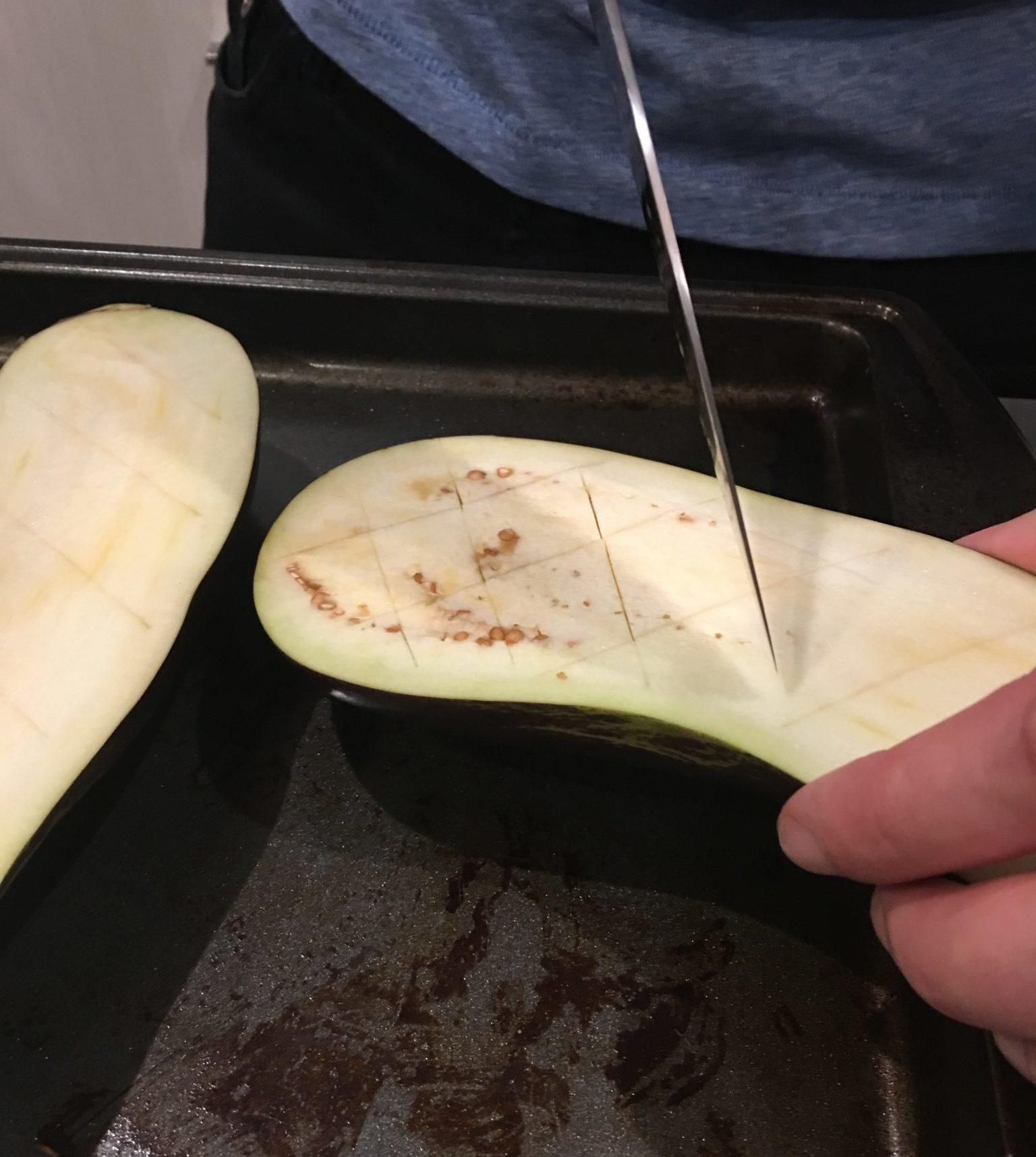 Scoring Eggplant