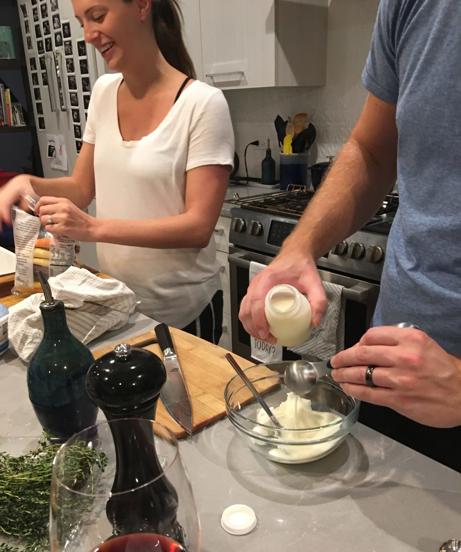 Work together in the kitchen