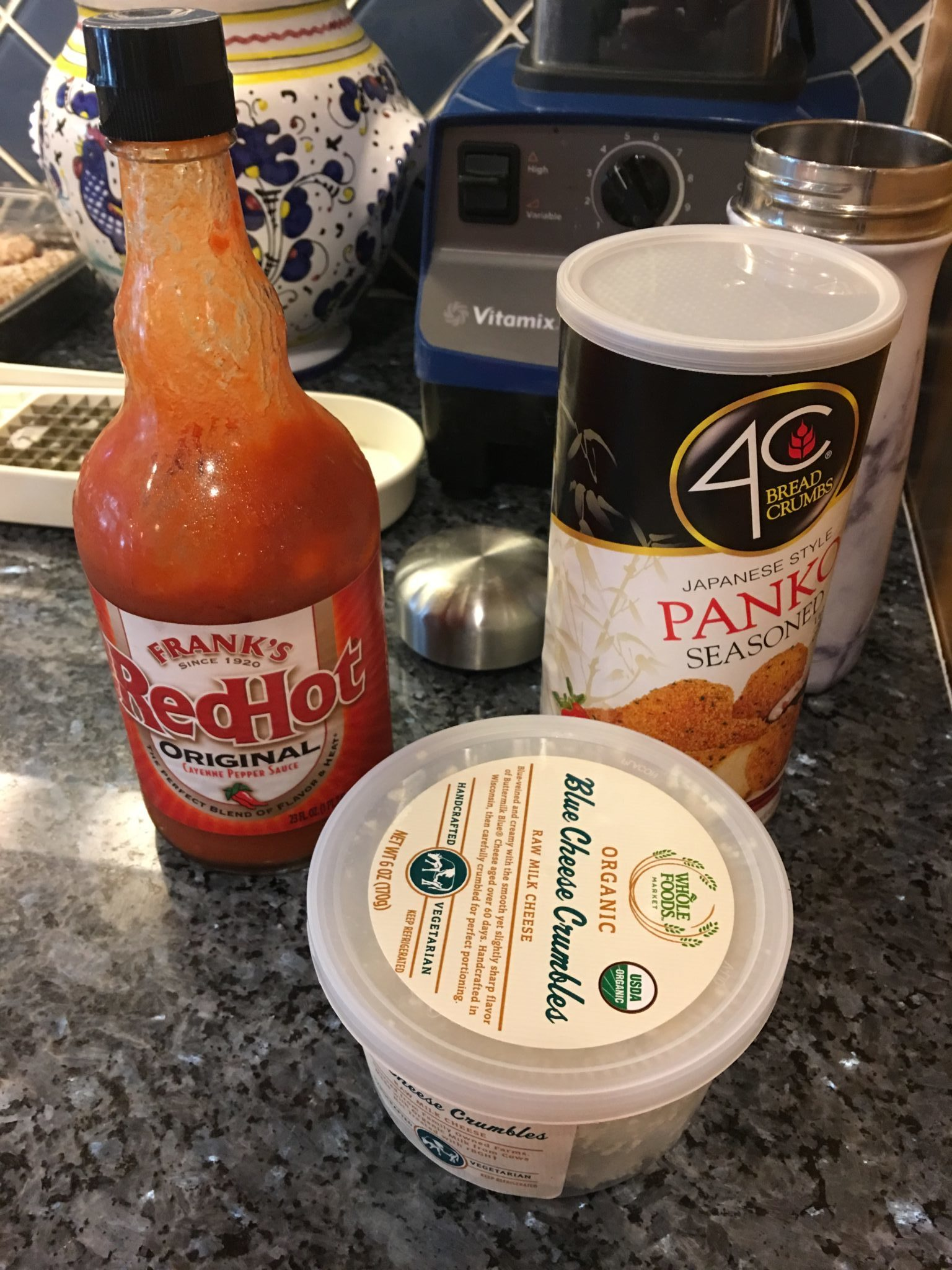 Franks Hot sauce and Blue Cheese