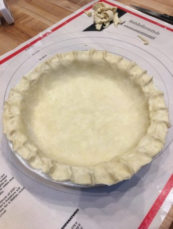 raw pie pastry in tin