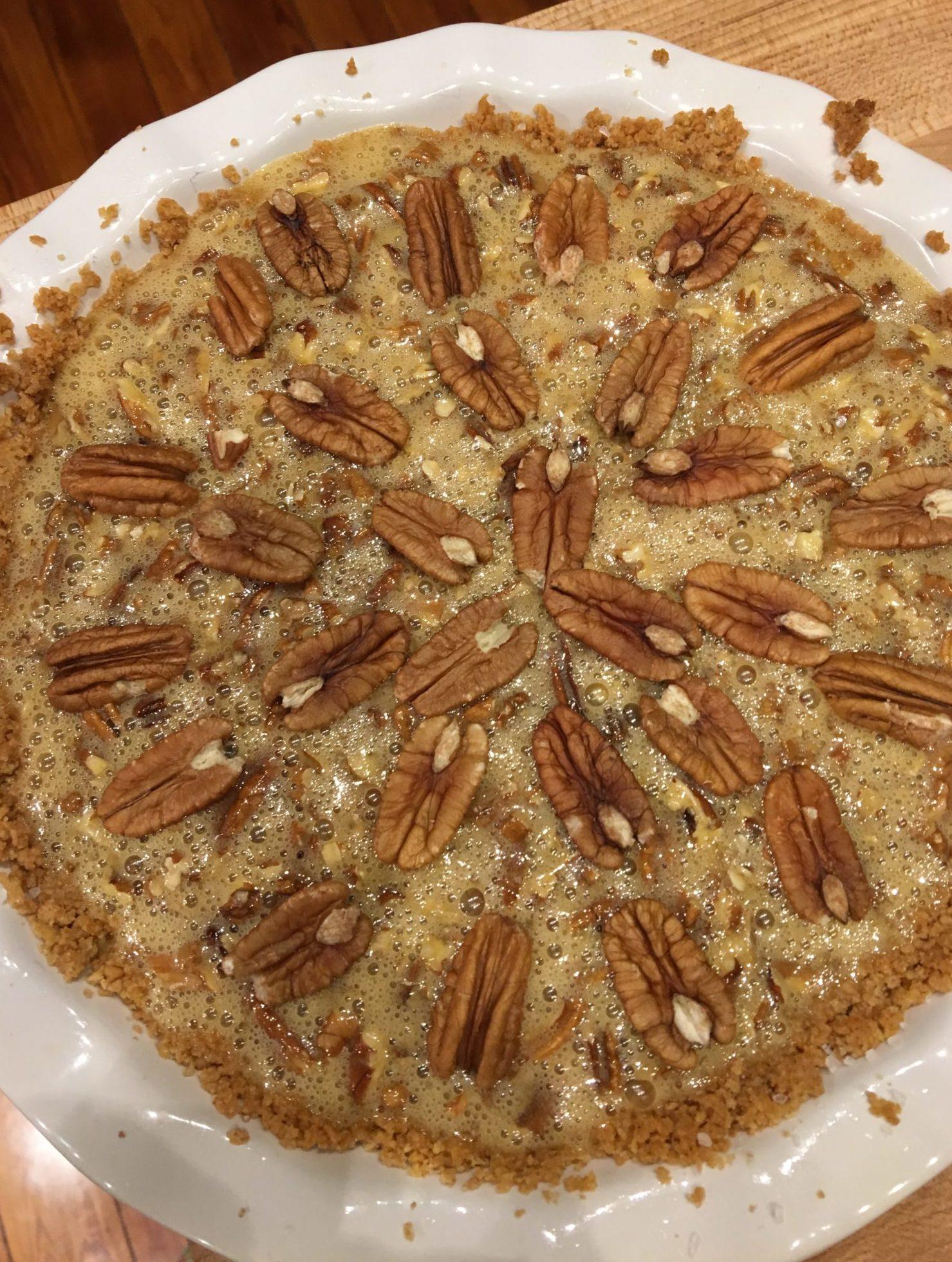 Pecan pie before baking