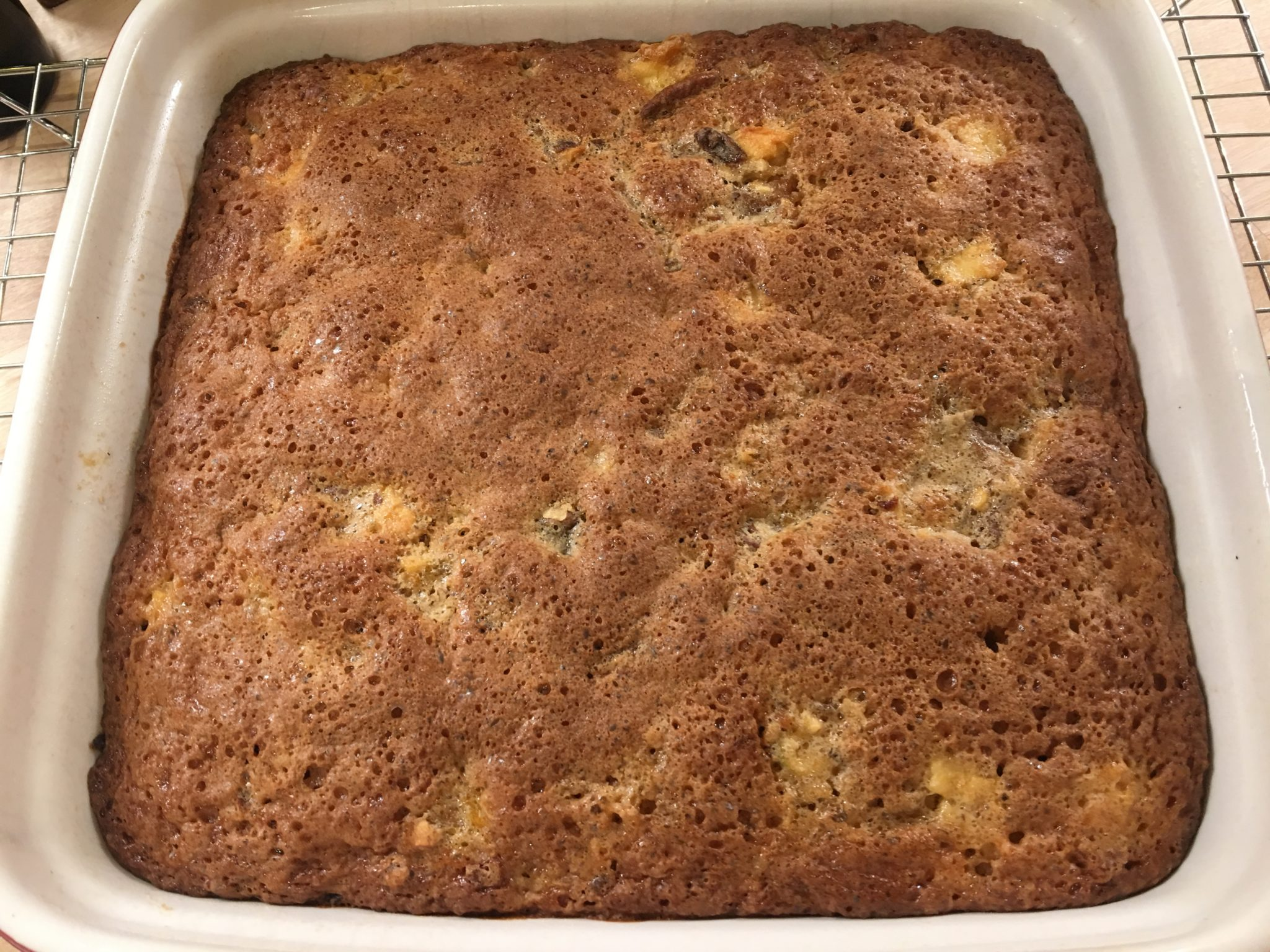 Fruit nuts bars fresh from the oven