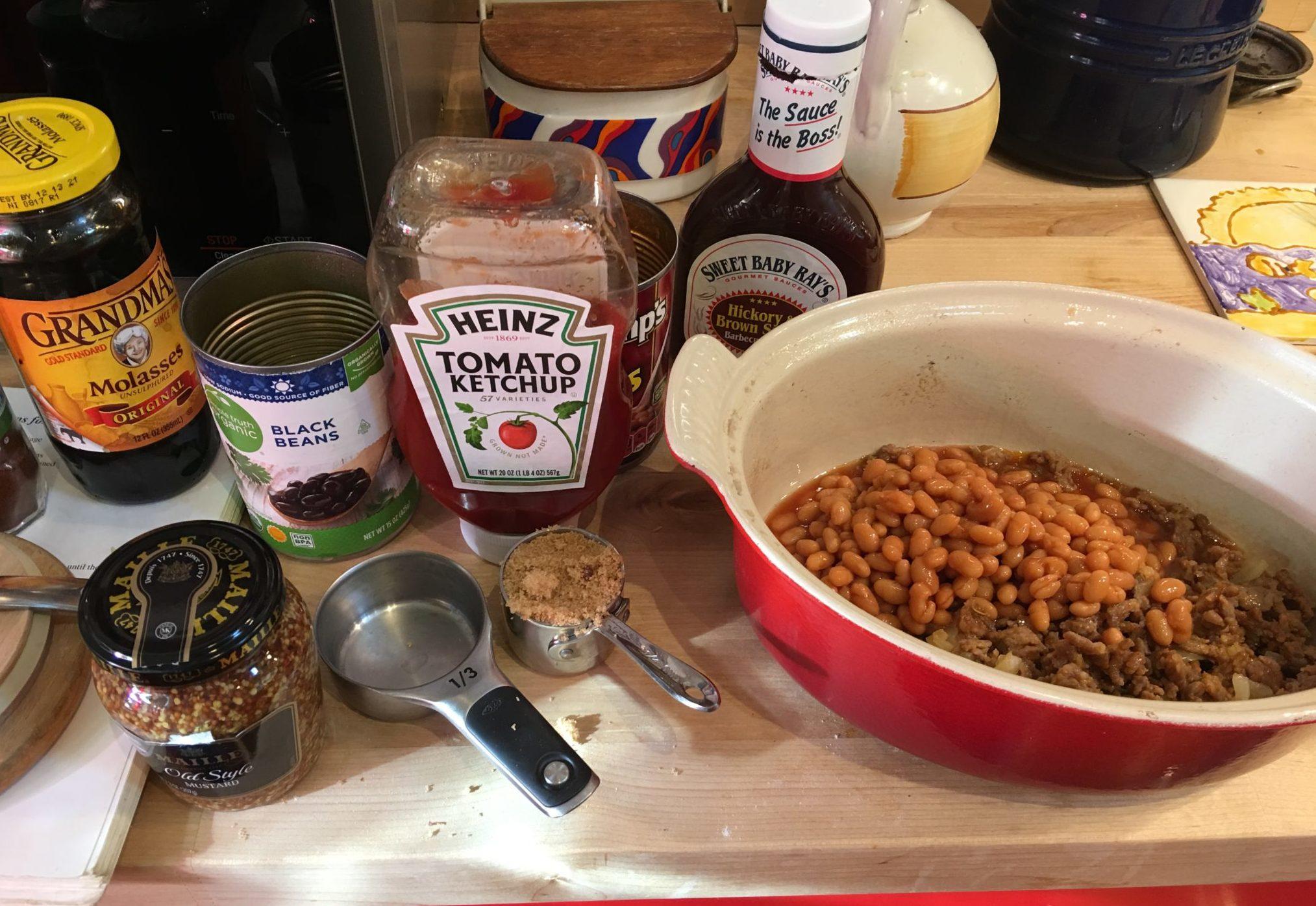 Spicy Baked Bean ingredients