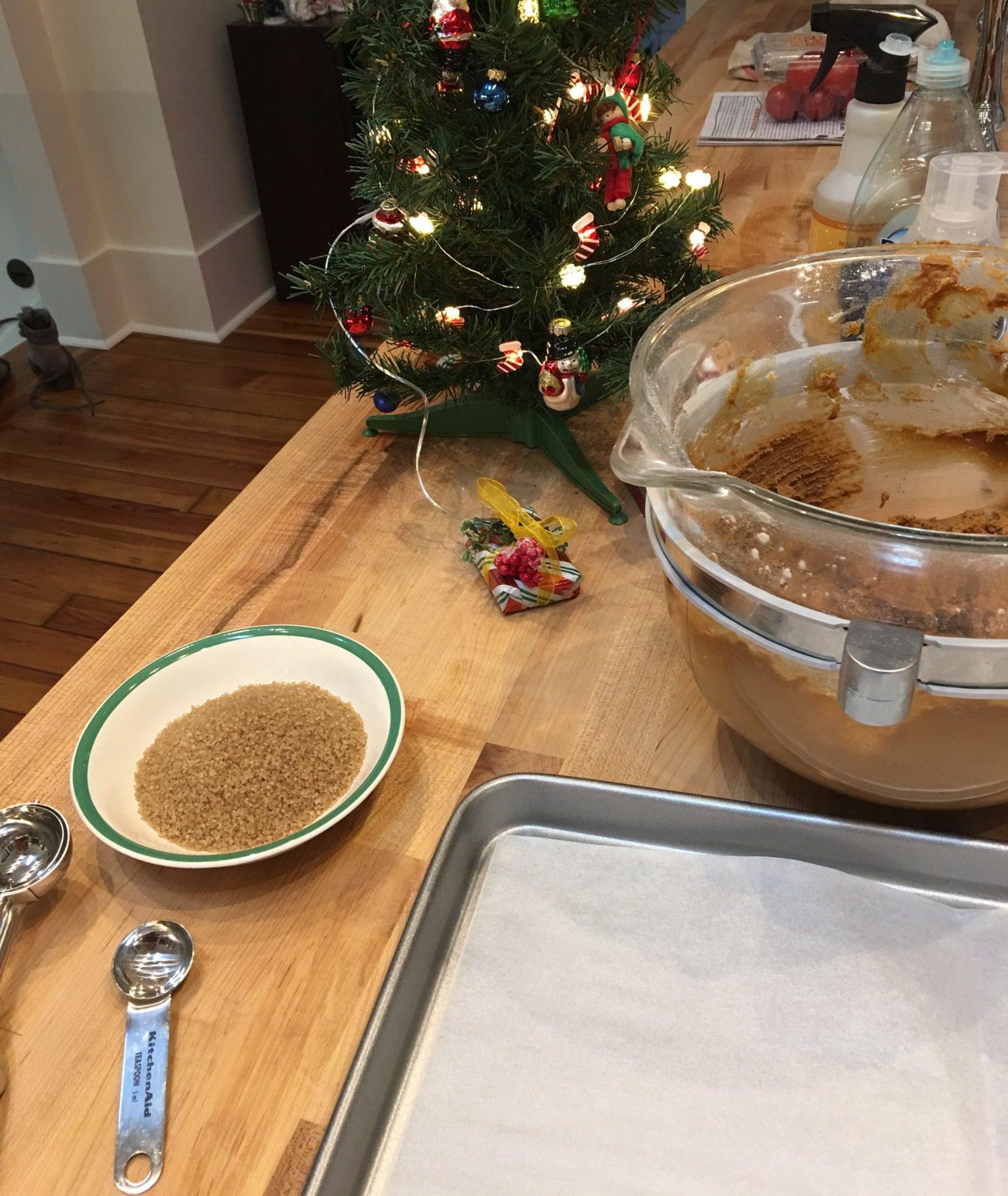 preparing to sugar cookies