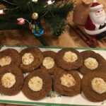 Eggnog Gingerbread Thumbprint Cookie
