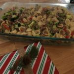 Orecchiette with Broccoli, Sausage and Roasted Red Peppers