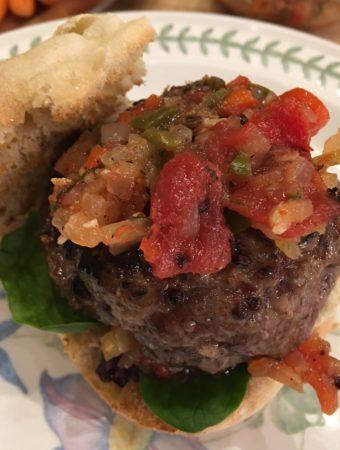 Lamb Burger Provencal a la Hubert Keller