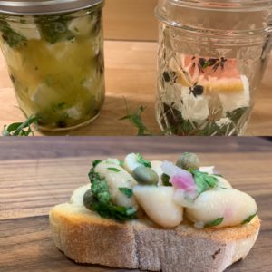 Crostini and Herb Marinated Feta
