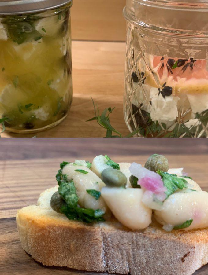 Crostini and Herb Marinated Feta