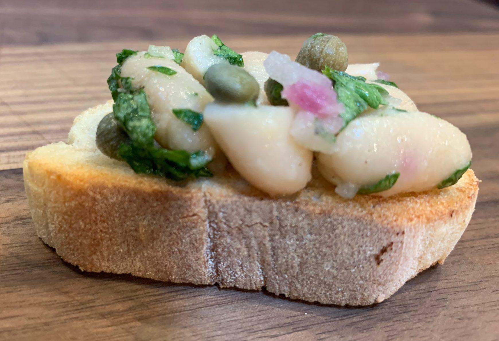 White Bean and Caper Crostini