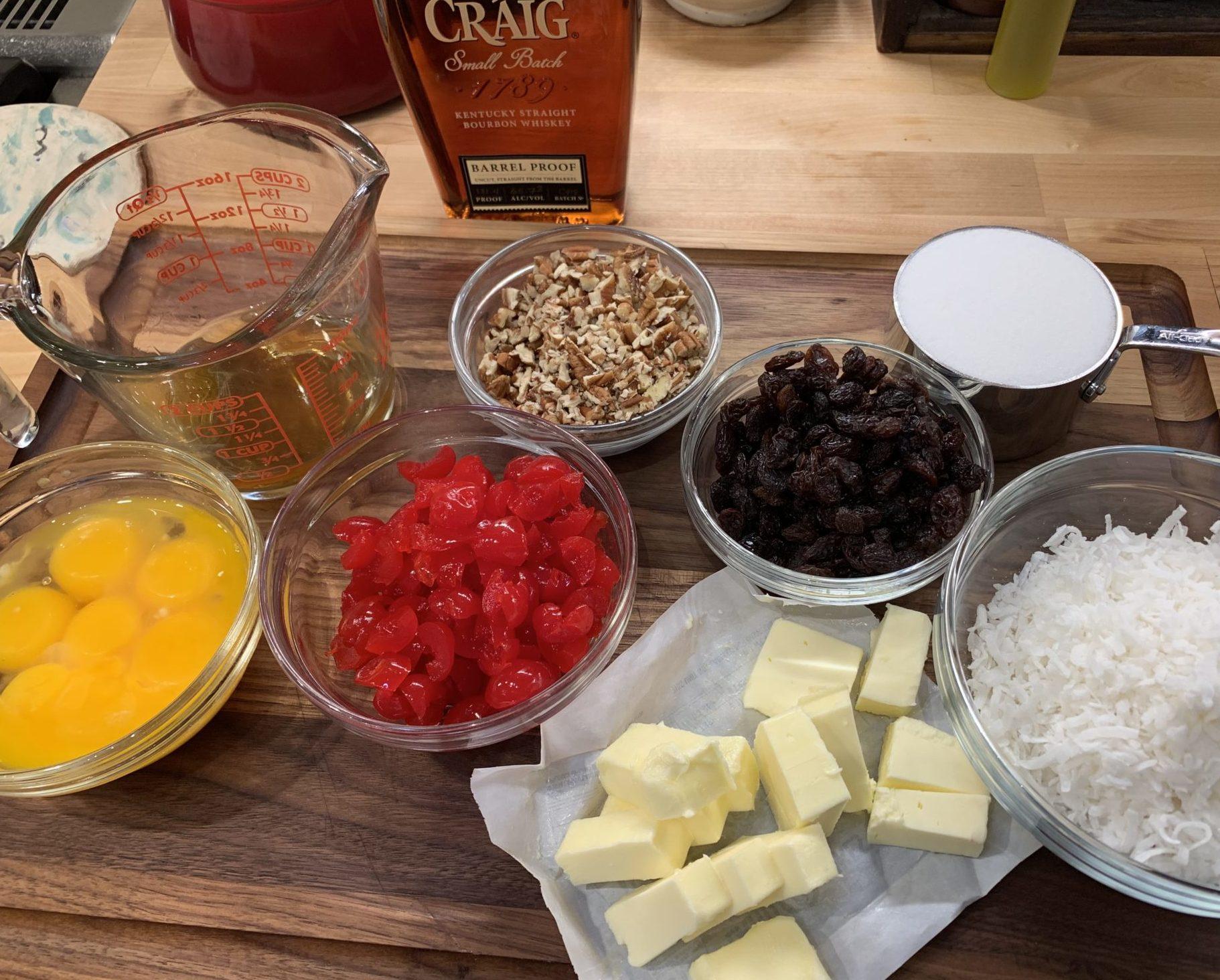 Ingredients for Lane Cake filling
