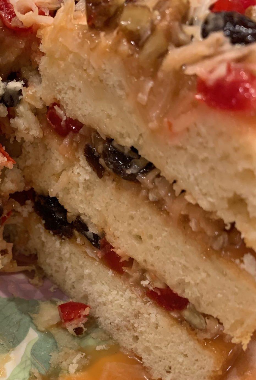 Three layer Lane Cake
