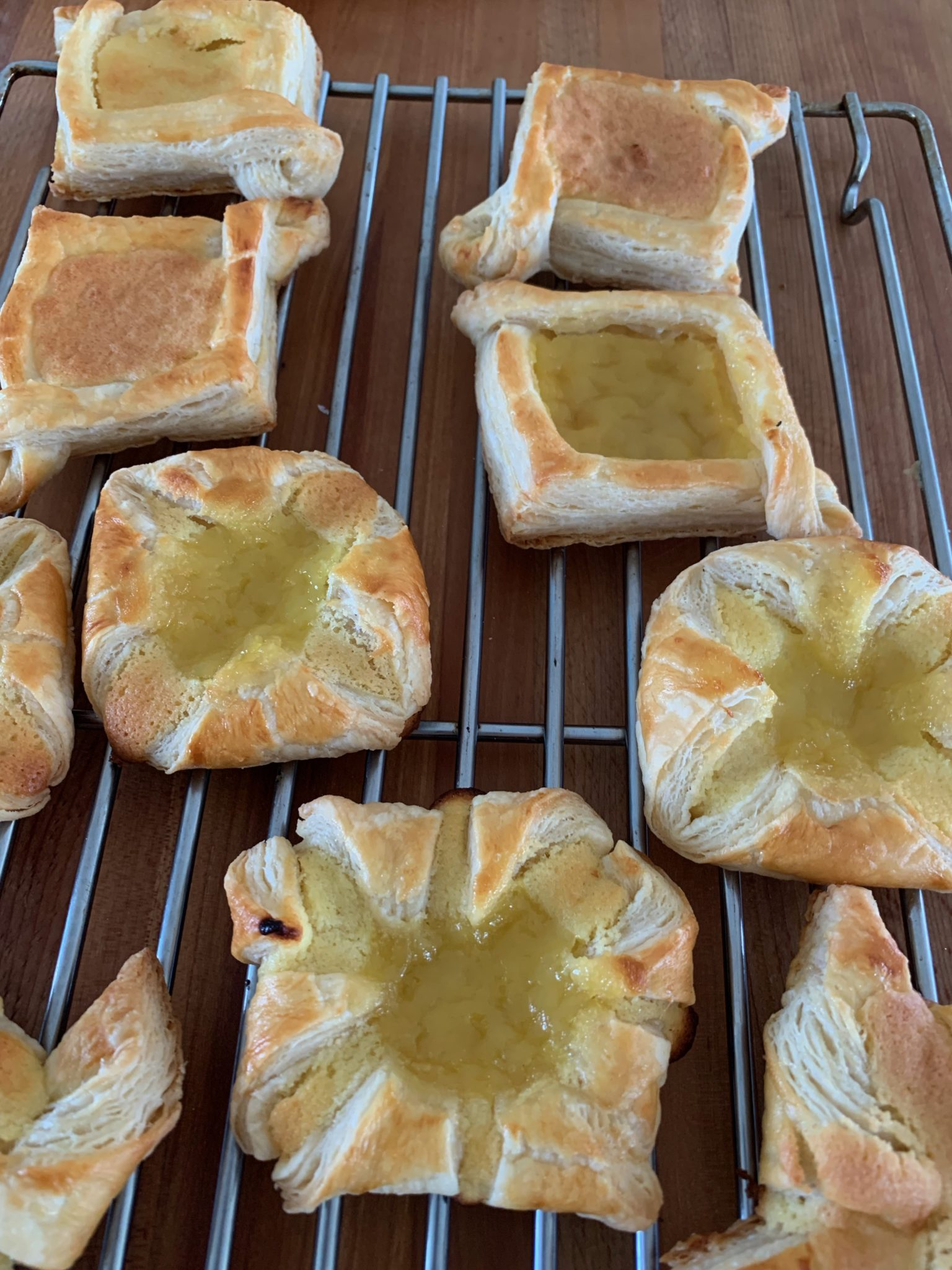 Cooling Danish pastries