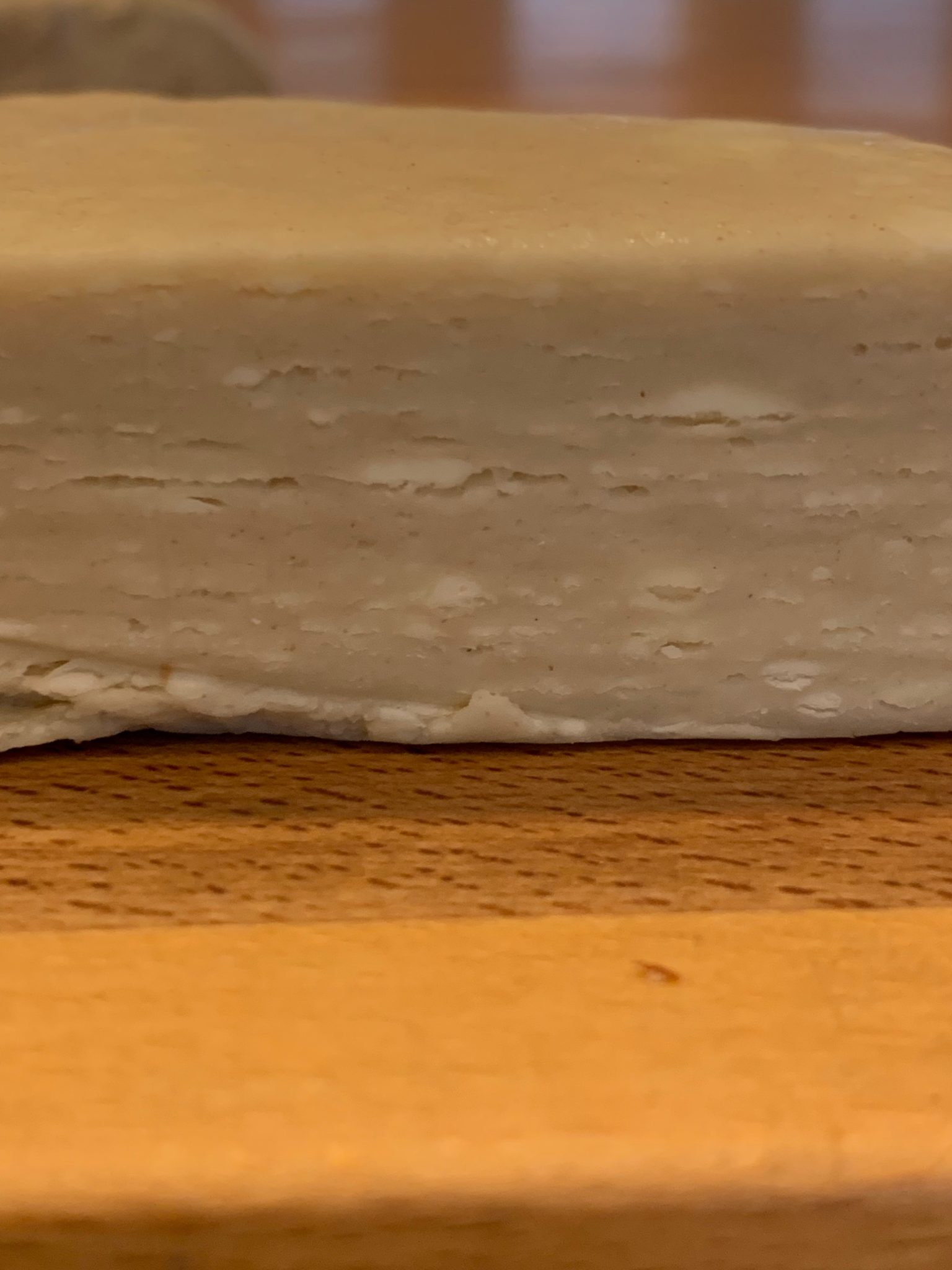 Layers of rough puff pastry