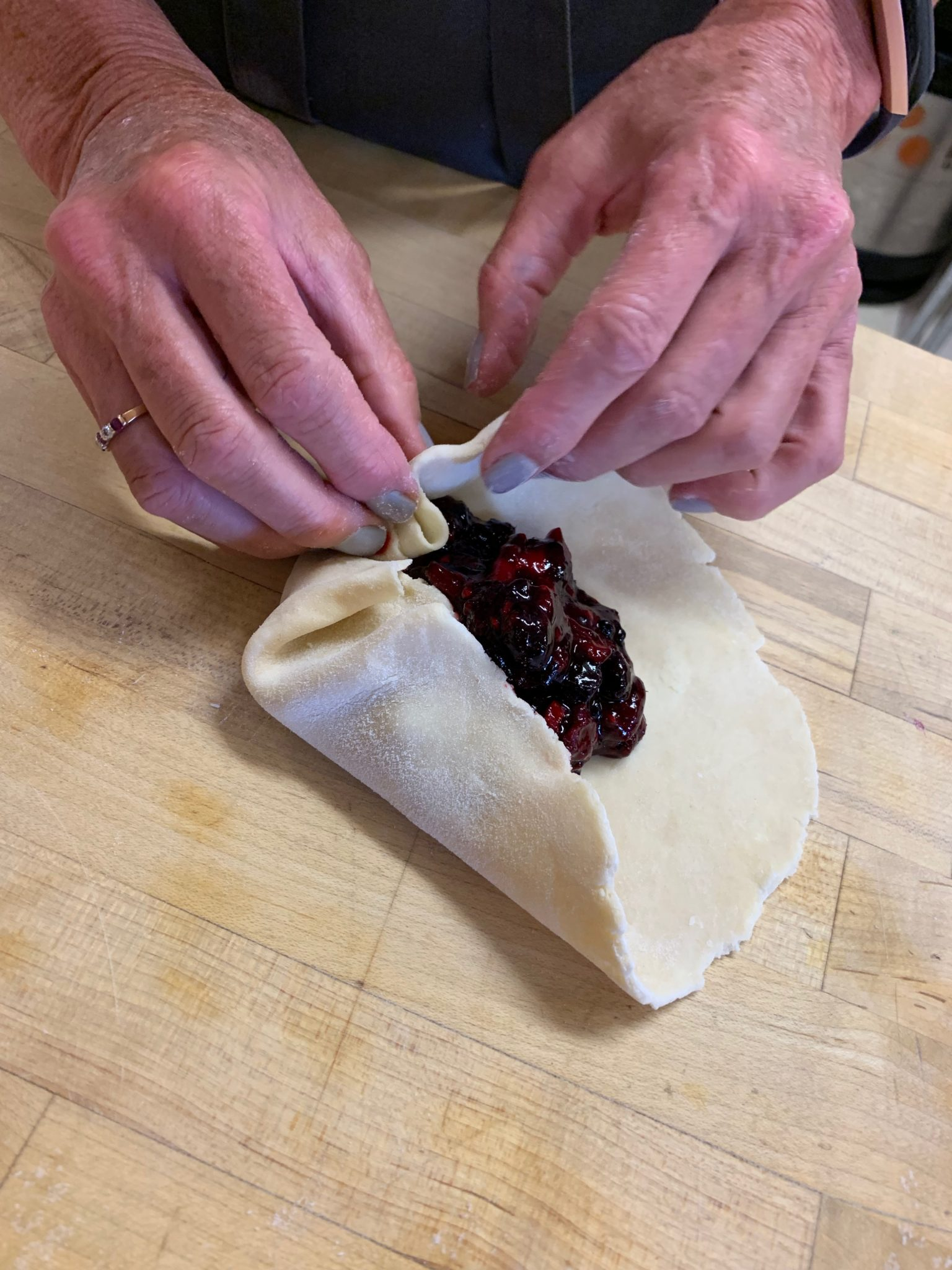 How to fold up a Galette