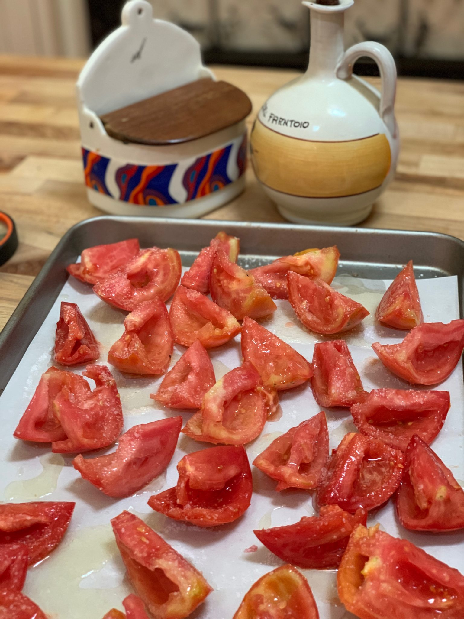 Tomatoes ready to slow roast