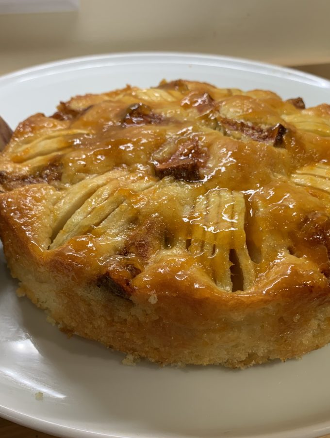 Finished Apple and Fig Cake