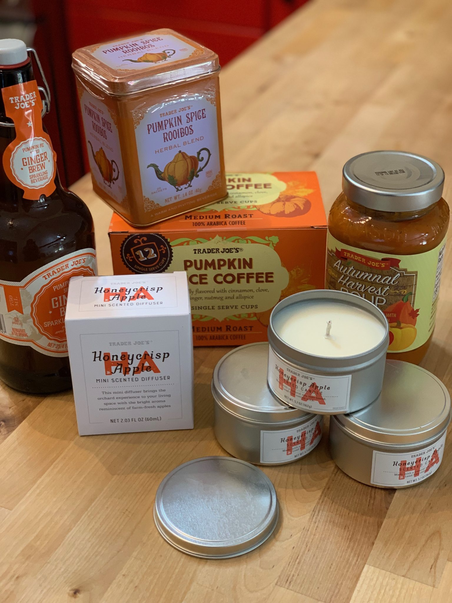 showing Fall items from Trader Joe's