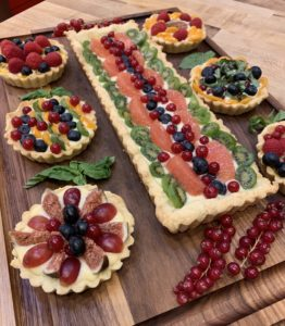An array of fruit tarts
