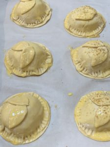 Uncooked pear hand pies