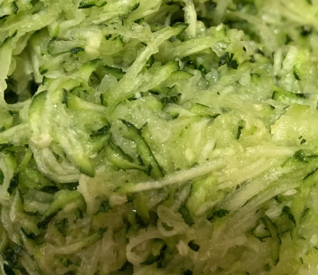finely grated zucchini