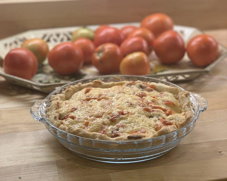 Tomato and Pimento Cheese Pie