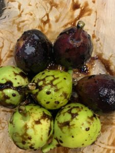 Figs tossed in balsamic vinegar and oil