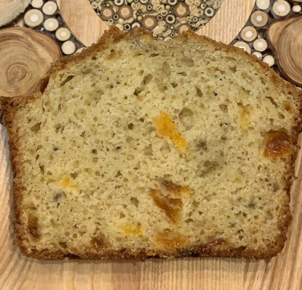 Slice of Quick Bread with 1/4 cup butter added
