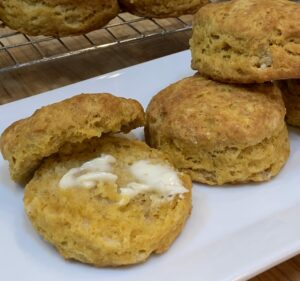 Pumpkin Biscuits with Butter