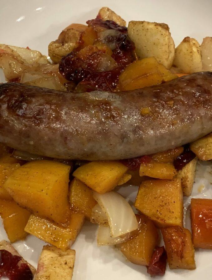 Bratwurst and Roasted Vegetables