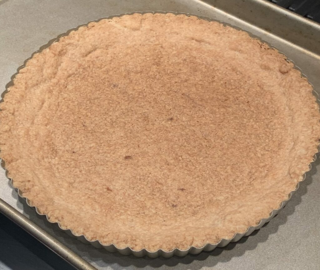 Pre-cooked tart shell