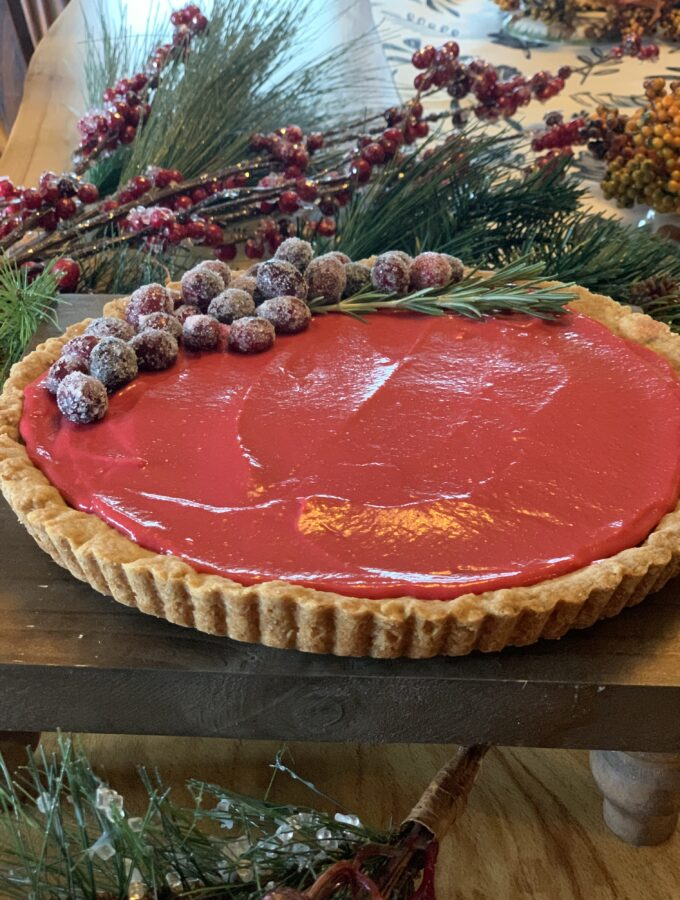 Cranberry Chocolate tart