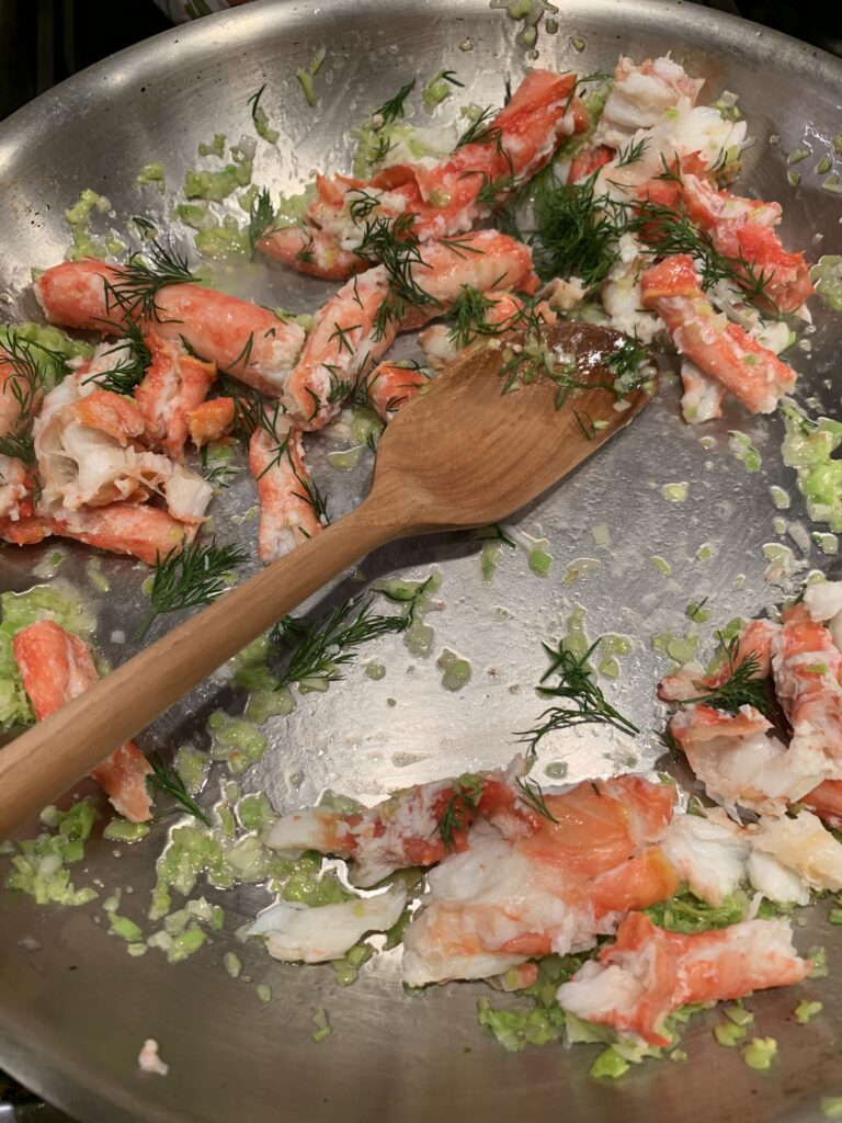 Sauteed King Crab meat