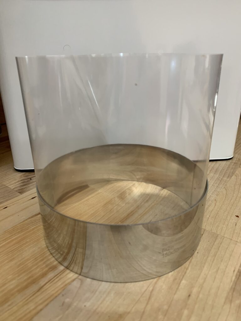 CAke ring and acetate assembled for layer cake