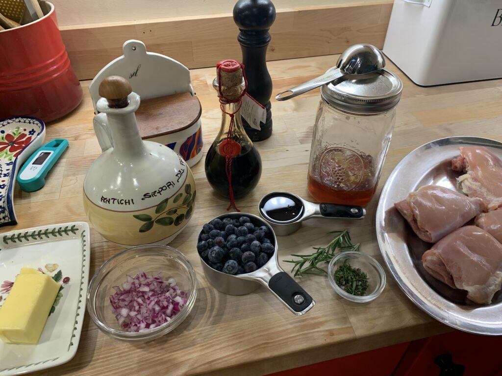Ingredients for Blueberry Chicken