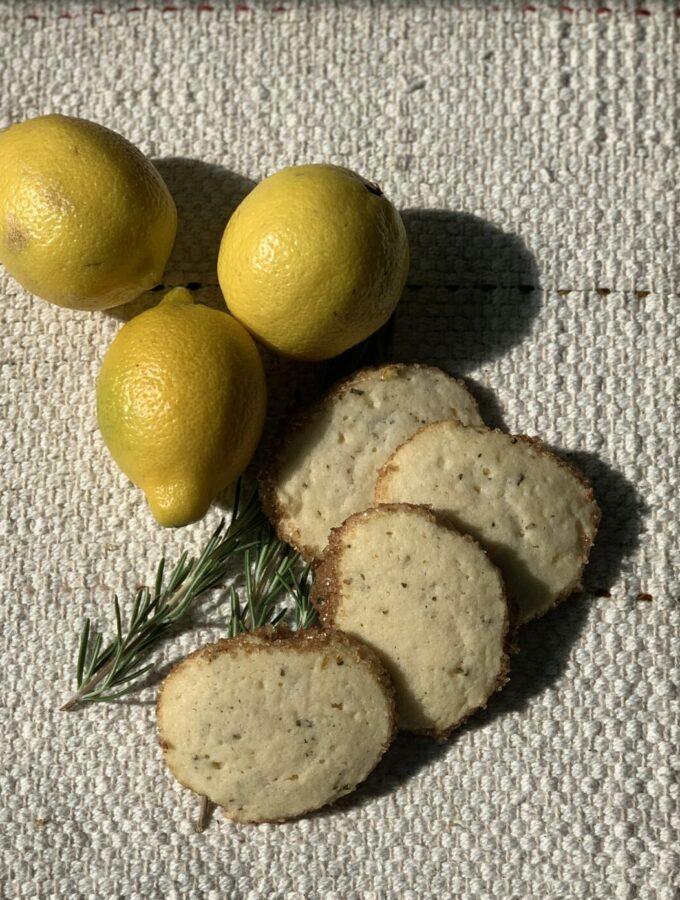 Rosemary and Lemon Shortbread Cookies