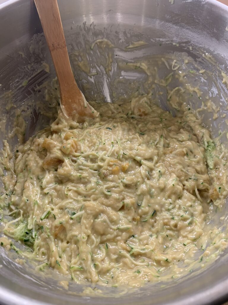Properly mixed quick bread batter