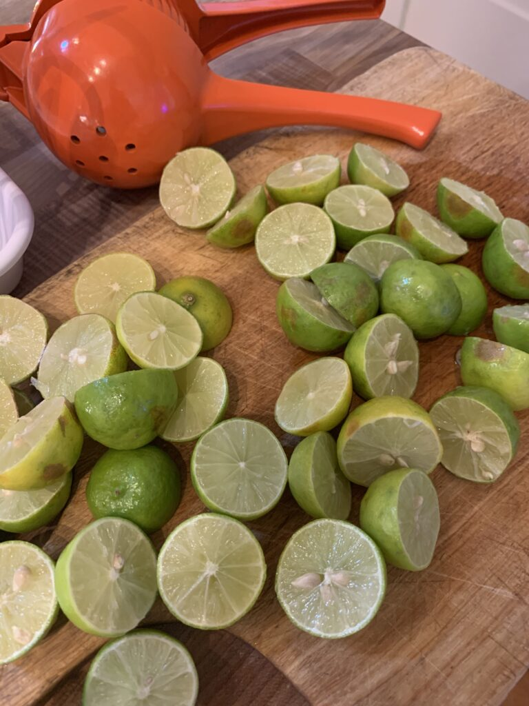 Showing the number of Key Limes needed for a pie