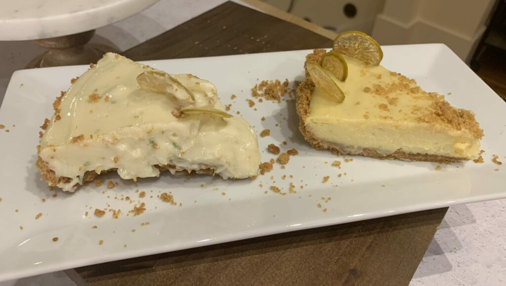 Two versions of Key Lime Pie
