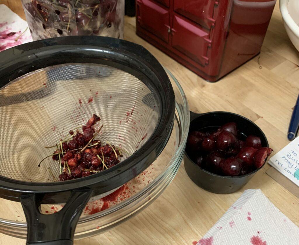 Saving cherry juice