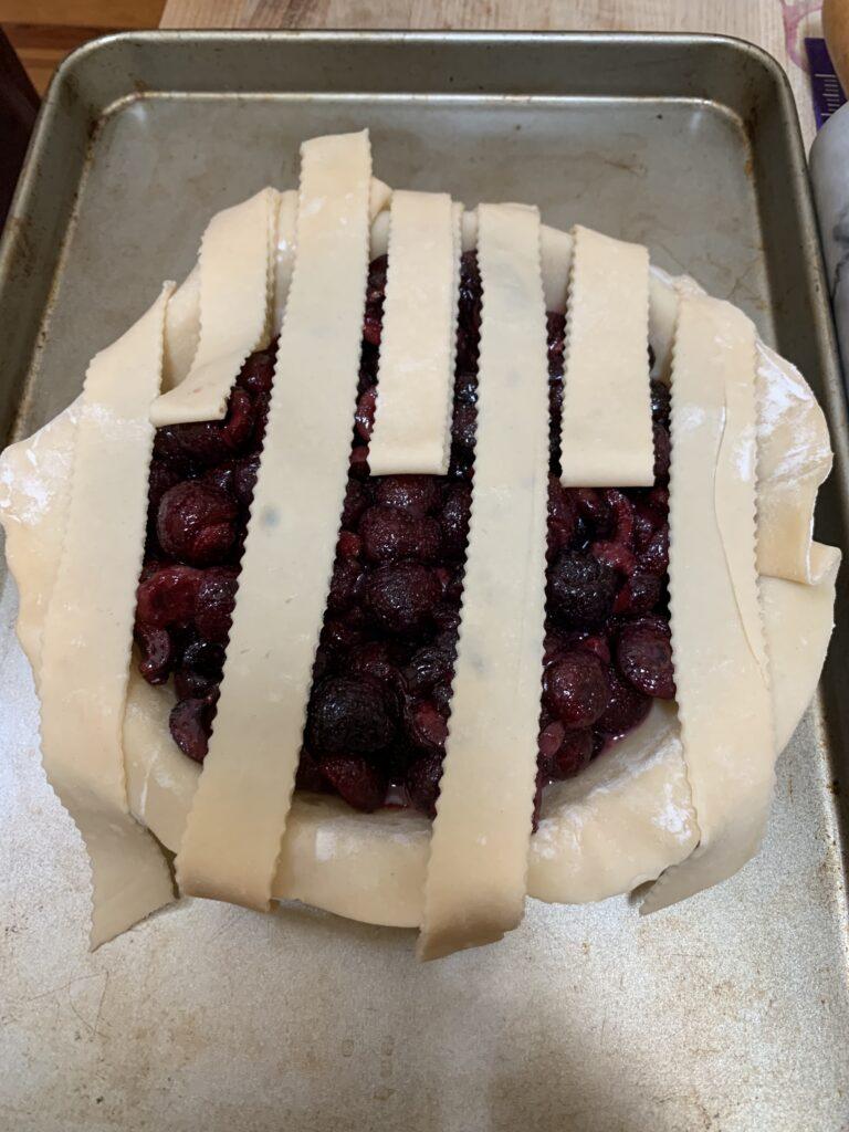 How to weave a lattice top pie