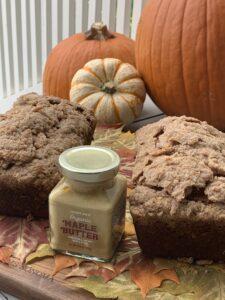 Pumpkin, apple spice bread